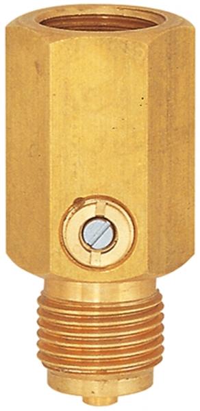 Stoßminderer für Manometer, G 1/2, PN 400 bar, Edelstahl 1.4571