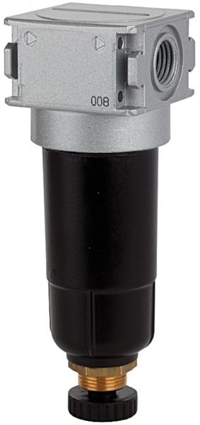 Mikrofilter »multifix-mini«, Metallbehälter, 0,01 µm, BG 0, G 1/4