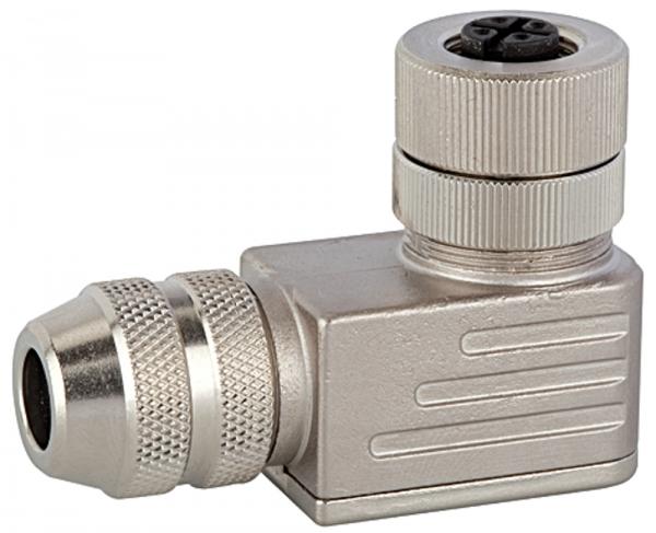 M12-Winkelleitungsdose, 5-polig, mit Schraubklemmen