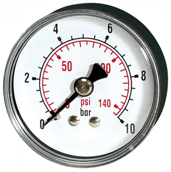 Standardmano »pressure line« G 1/4 hinten 0-10,0 bar/145 psi, Ø63