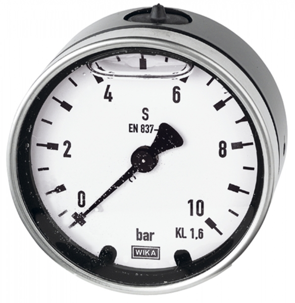 Glyzerinmano, Metallgeh., G 1/2 hinten exzentr., 0-40,0 bar, Ø100