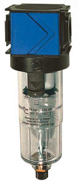 Filter »variobloc«, mit Polycarbonatbehälter, BG 1, G 1/4