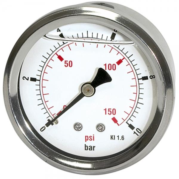 Glyzerinmano »pressure line« G 1/4 hinten 0-100 bar/1500 psi, Ø63