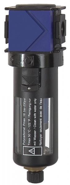 Mikrofilter »variobloc«, mit PC-Behälter, Schutzkorb, BG 1, G 3/8