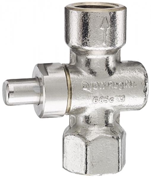 Manometer-Druckknopfhahn, G 1/2, aus Messing vernickelt