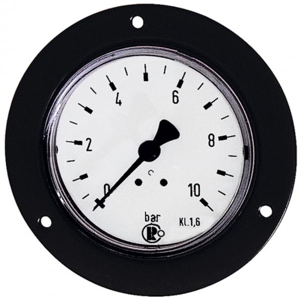 Standardmano., Frontring schwarz, G 1/4 hinten, 0-10,0 bar, Ø 50