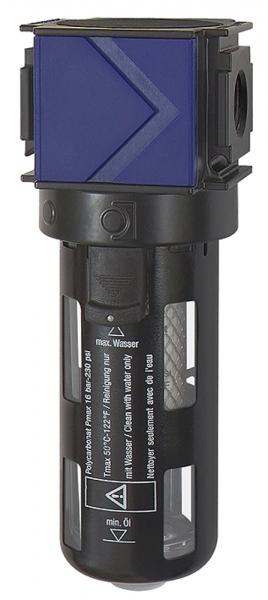 Aktivkohlefilter »variobloc« PC-Behälter, Schutzkorb, BG 1, G 3/8