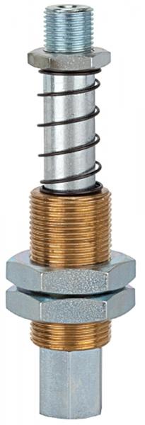 Federstössel, Sauger-/Vakuumanschluss M5 IG, Federweg 10,0 mm