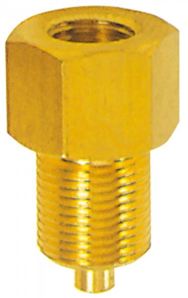 Manometer-Anschlussnippel, Messing, G 1/8 Muffe, G 1/4 Zapfen