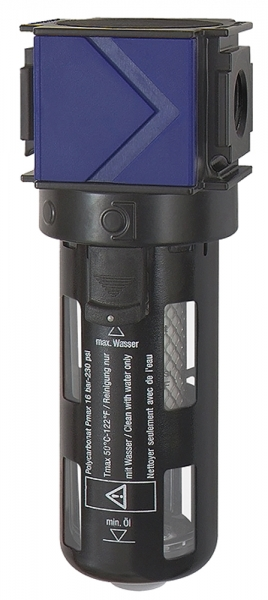 Aktivkohlefilter »variobloc« PC-Behälter, Schutzkorb, BG 1, G 1/4