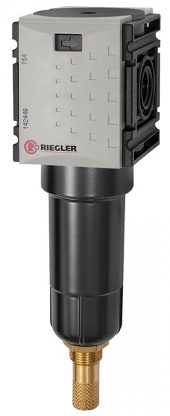 Filter »FUTURA-mini« mit Metallbehälter, 5 µm, BG 0, G 1/4, VA
