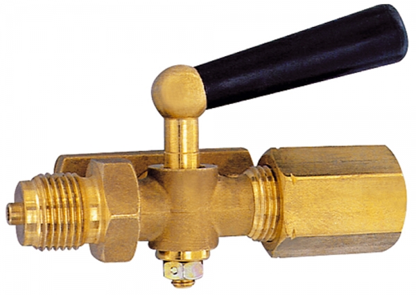 Manometer-Absperrhahn, Zapfen - Spannmuffe, MS blank, G 1/2, 40x5