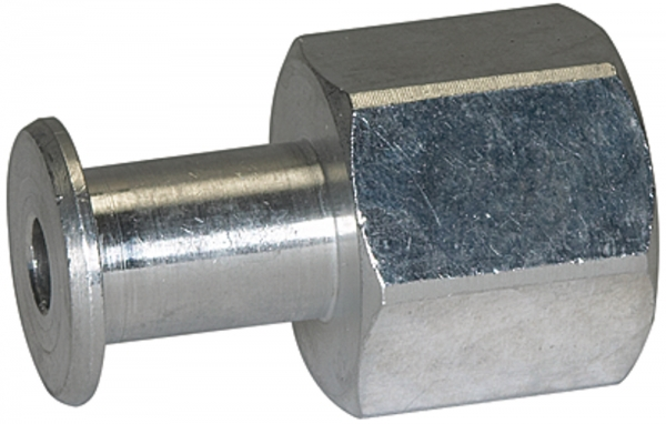 Anschlussnippel Balgsauger, rund, 1,5 u. 2,5 Falten FGA M5 Ø 5