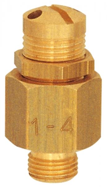 Mini-Abblasventil, Messing, G 1/4, Ansprechdruck 16,0 - 32,0 bar