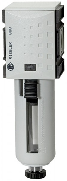 Filter »FUTURA« mit PC-Behälter, Schutzkorb, 5 µm, BG2, G 1/2, HA
