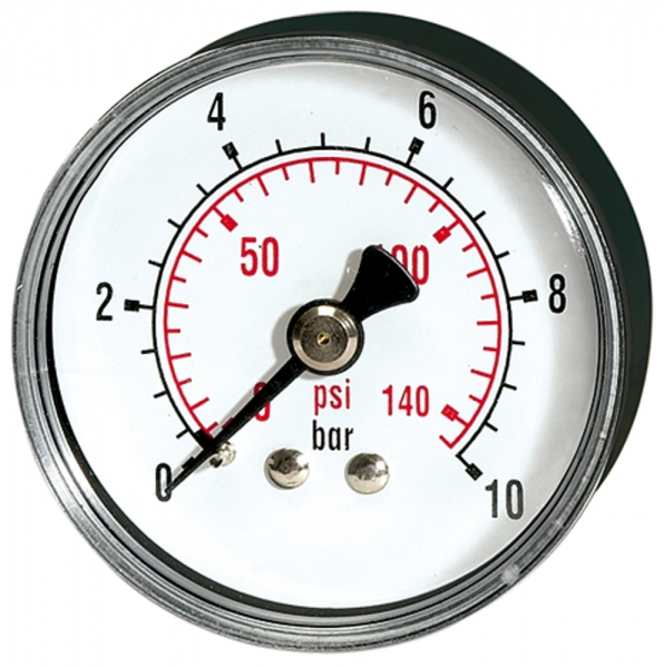 Standardmano »pressure line« G 1/8 hinten 0-10,0 bar/145 psi, Ø40