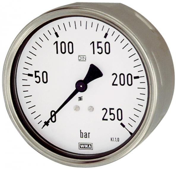 Manometer, Robustausf., G 1/2 hinten exzentr., 0-10,0 bar, Ø 100