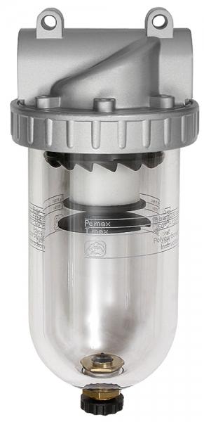Filter »Standard«, mit Polycarbonatbehälter, 40 µm, BG 4, G 1 1/2
