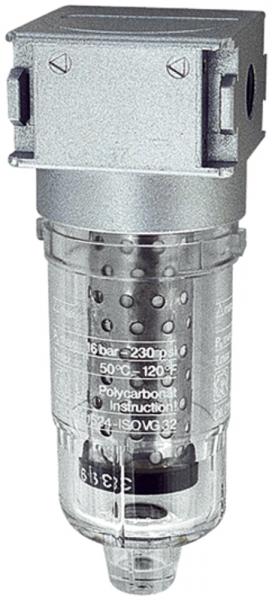 Aktivkohlefilter »multifix-mini«, mit PC-Behälter, BG 0, G 1/8