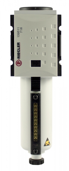 Mikrofilter »FUTURA«, Metallbehälter, Sichtrohr, BG 4, G 1, VA