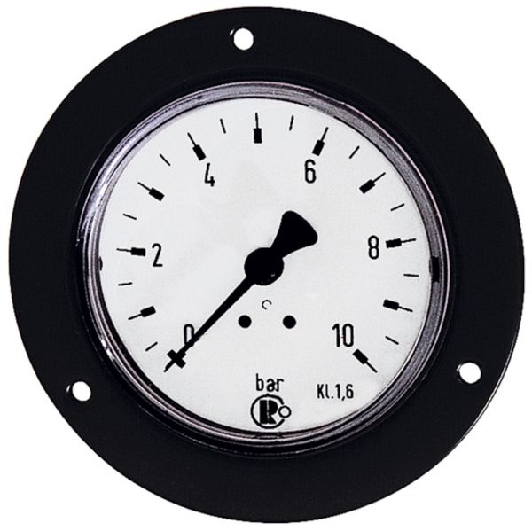 Standardmano., Frontring schwarz, G 1/8 hinten, 0 - 1,6 bar, Ø 40