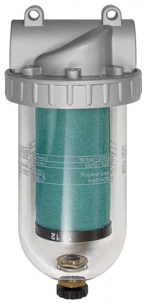 Spezialfilter »Standard«, mit PC-Behälter, 0,01 µm, BG 4, G 3/4