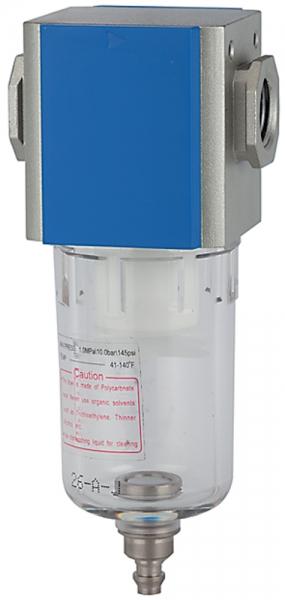 Filter »G-mini«, mit PC-Behälter, 5 µm, BG 200, G 1/4, Ablass: HA
