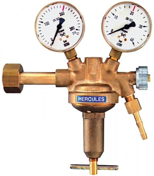 Flaschendruckregler, 200 bar, Argon/Helium, Arbeitsdruck 0-10 bar