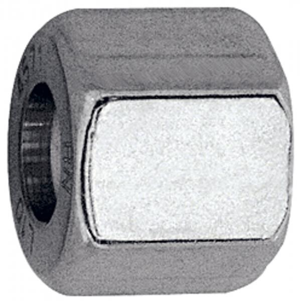 Überwurfmutter, M30x2,0, Rohr-Außen-Ø 22 mm, Edelstahl 1.4571