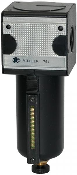 Filter »multifix«, Metallbeh. u. Sichtrohr, 5 µm, BG 3, G 1/2, HA