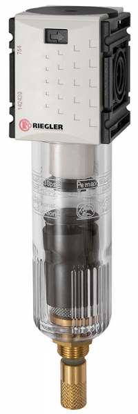 Filter »FUTURA-mini« mit PC-Behälter, 5 µm, BG 0, G 1/4, VA