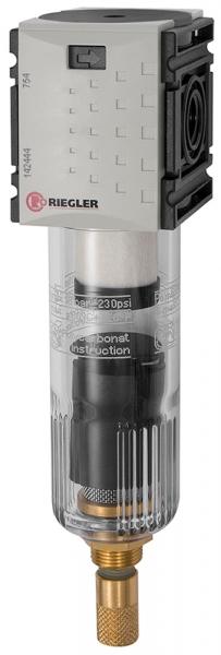 Vorfilter »FUTURA-mini«, PC-Behälter, 0,3 µm, BG 0, G 1/4, VA-NC
