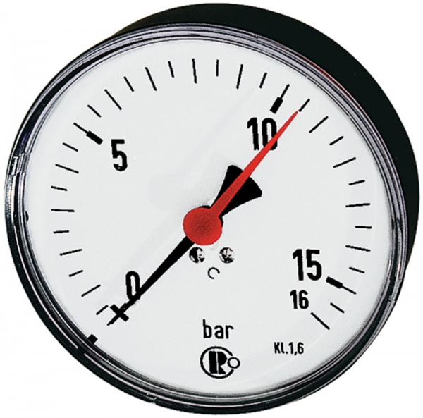 Standardmano., Kunststoff, G 1/4 hinten zentr., 0 - 1,0 bar, Ø 80