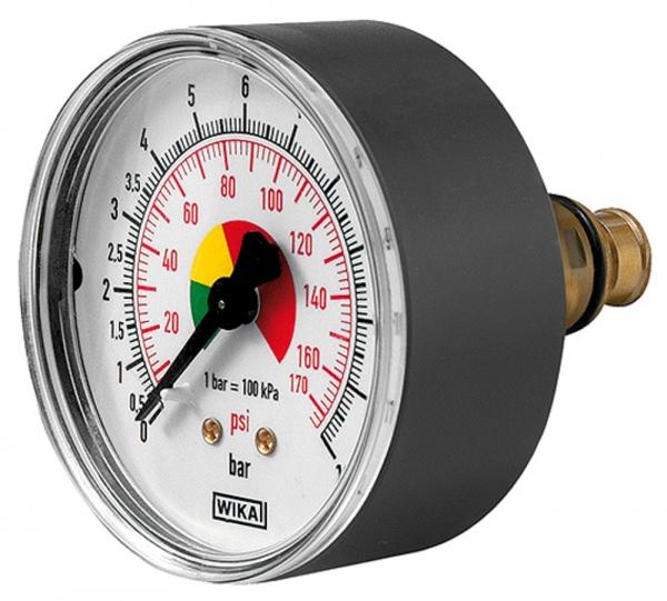Manometer ø 63 mm, ungeeicht, Anschluss hinten