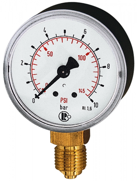 Standardmano, Kunststoff, G 1/4 unten, 0 - 6,0 bar/86 psi, Ø 50