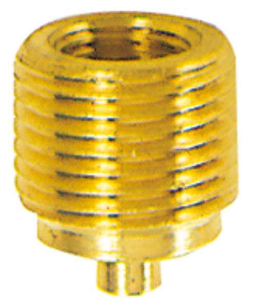 Manometer-Anschlussnippel, selbstdichtend, MS, G 3/8 AG, G 1/4 IG
