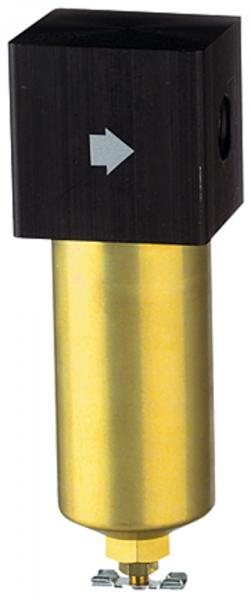 Filter für hohe Drücke bis 40 bar, mit Handablassventil, G 1/2