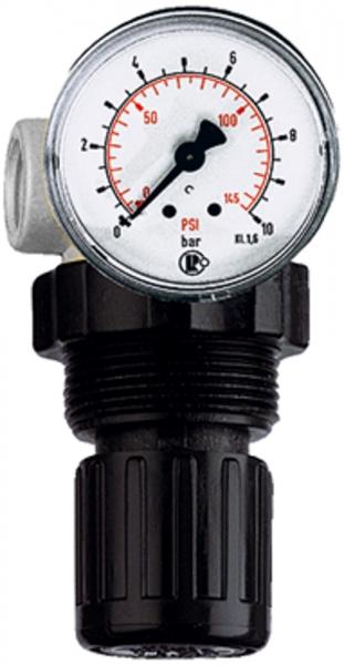 Druckbegrenzungsventil, inkl. Manometer, G 1/4, 0,5 - 10,0 bar