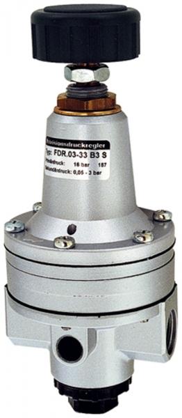 Präzisionsdruckregler o. Mano, G 1/4, 0,05-3 bar, hoher Durchfl.