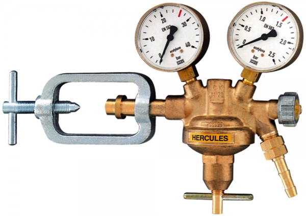 Flaschendruckregler, 200 bar, Wasserstoff/Methan/Leuchtgas/Erdgas