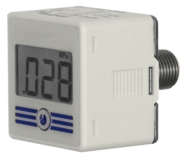 Digital-Manometer mit Hintergrundbeleuchtung, 0-10 bar, R 1/4 AG