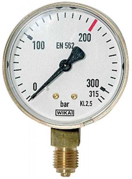Manometer neutral, G 1/4 radial unten, Messber. 0 - 315 bar, Ø 63