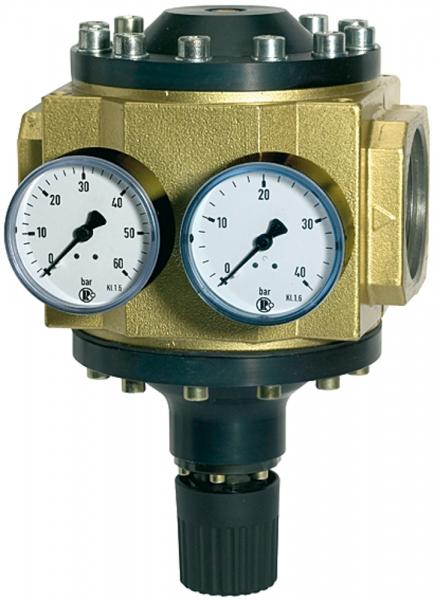Großdruckregler mit 2 Manometern, G 1 1/2, Regelber. 0,5 - 6 bar