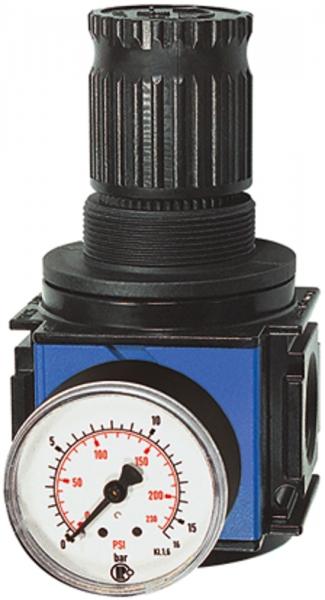 Druckregler, durchg. Druckvers. »variobloc«, BG 2, G 1, 0,5-6 bar