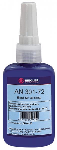 RIEGLER Lock AN 301-72, anaerober Klebstoff, mittelfest, 50 ml