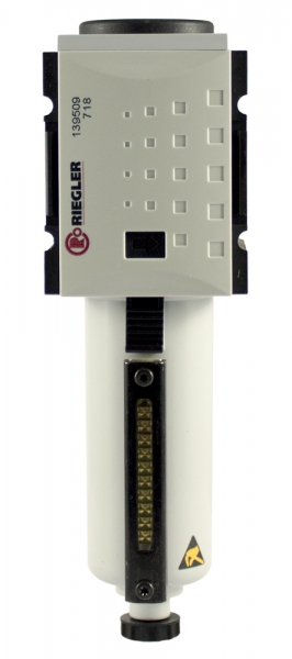 Vorfilter »FUTURA«, Metallbeh., Sichtrohr, 0,3 µm, BG1, G 3/8, HA
