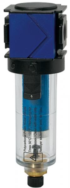 Mikrofilter »variobloc«, mit PC-Behälter, 0,01 µm, BG 2, G 1/2