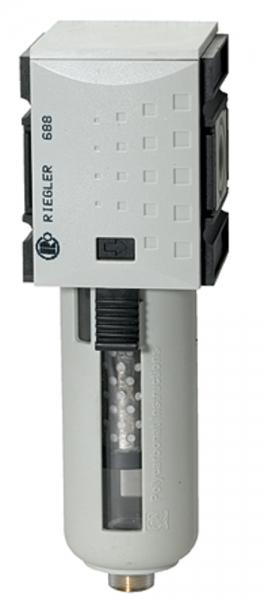 Aktivkohlefilter »FUTURA«, PC-Behälter u. Schutzkorb, BG 2, G 3/8