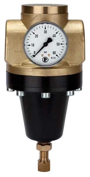 Hochdruckregler 60 bar, inkl. Mano., G 1, Regelbereich 0,5-12 bar