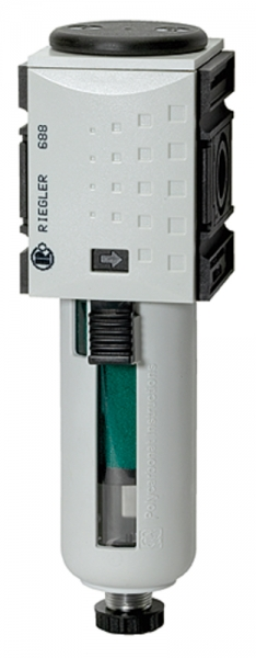 Mikrofilter »FUTURA«, PC-Behälter, Schutzkorb, BG 1, G 1/4, HA